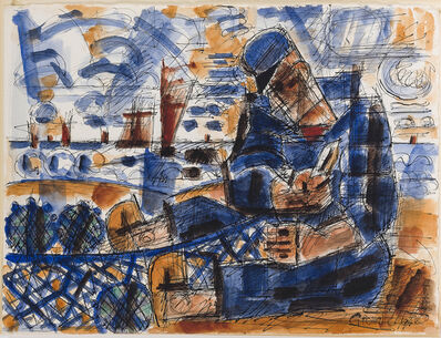 Marcel Gromaire, 'Pêcheur et Filet', 1946