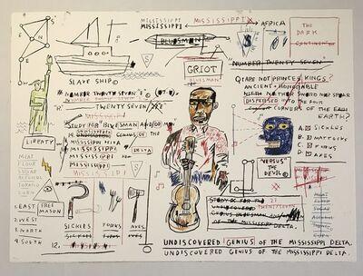 Jean-Michel Basquiat, 'Undiscovered Genius', 1982-2019