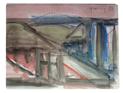 Günther Förg, 'Landscape with Roofs', 2001