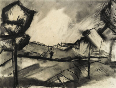 David Bomberg, 'Sunlight in the valley, Ronda'