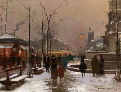 Edouard Léon Cortès, 'Place du Châtelet in Winter', 20th Century