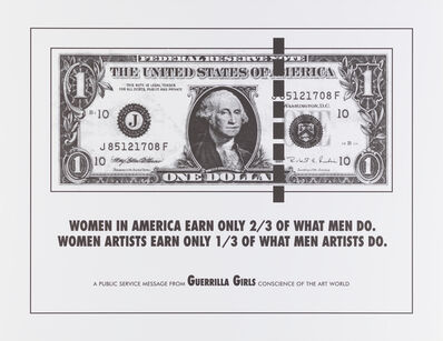 Guerrilla Girls, 'Women in America Earn Only 2/3 of What Men Do poster', 1985