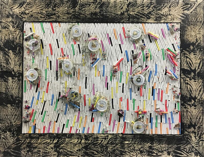 Pascale Marthine Tayou, 'Fresque de craies C(3)', 2015