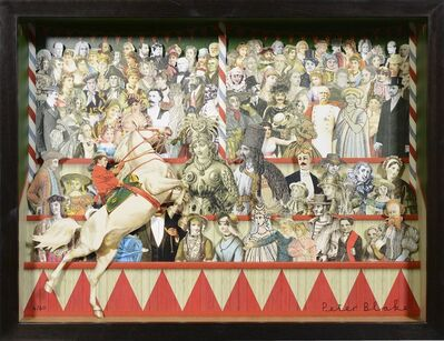 Peter Blake, 'Peter Blake, 3-D Circus Triptych, collage, signed, 2013', 2013