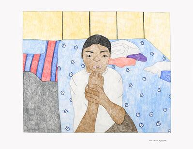Kudluajuk Ashoona, 'Untitled (Cheek Pulling)', 2019