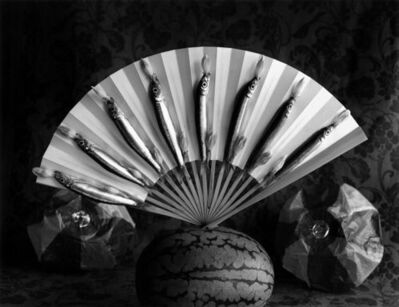 Michiko Kon (今 道子), 'Sardines, watermelon and Japonese Fan', 2009