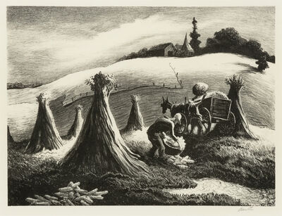 Thomas Hart Benton, 'Loading Corn', 1945