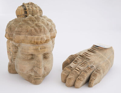Long-Bin Chen, 'Indian Buddha and Hand'