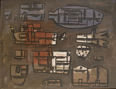 Gonzalo Fonseca, 'Composition of forms', 1959
