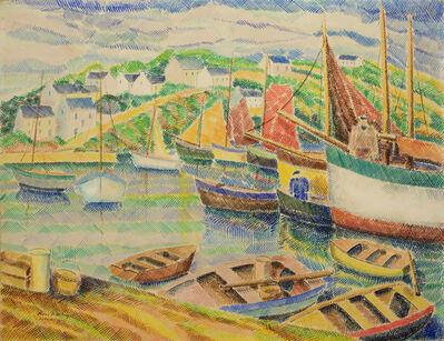 Pierre De Belay, 'Le port d'Audierne', 1940