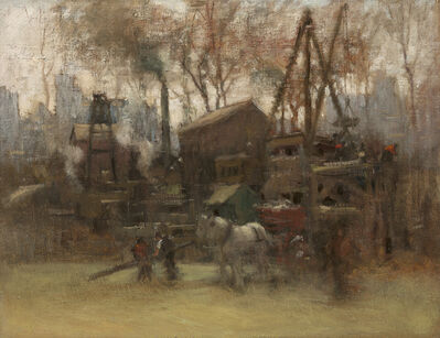 Paul Cornoyer, 'Construction Site, New York', ca. 1910