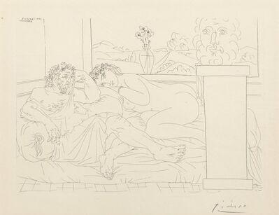 Pablo Picasso, 'Le repos du sculpteur IV, pl. 65, from La Suite Vollard', 1933