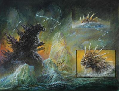 Bob Eggleton, 'Godzilla vs. Varan - Comic Page', 2015