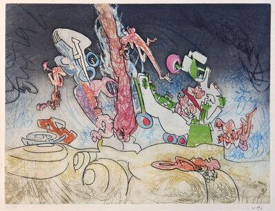 Roberto Matta, 'Les Oh! Tomobiles, plate 8', 1972