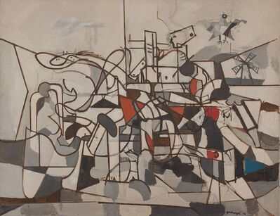 Robert Goodnough, 'Struggling Horse', 1958