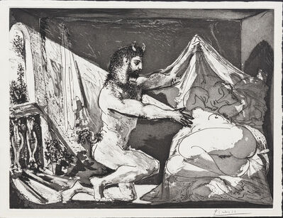 Pablo Picasso, 'Faune unveiling a sleeping Woman', 12.06.1936