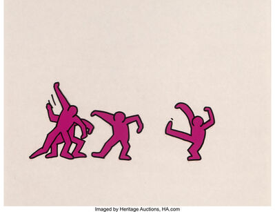 Keith Haring, 'Sesame Street Break-Dancers, three works'