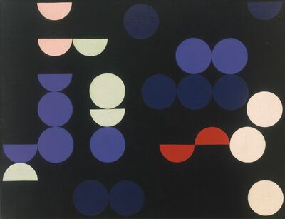 Sophie Taeuber-Arp, 'Composition with Circles and Semi-Circles', 1935