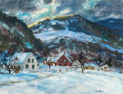 John Whorf, 'Winter Sunset Vermont'