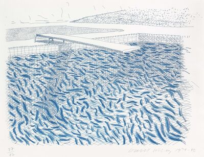 David Hockney, 'Lithographic Water made of lines and crayon', 1980