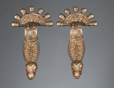 Unknown, 'Ancient Merovingian Pair of Zoomorphic Handled Fibulae', Merovingian period, 6th, 7th century A.D.