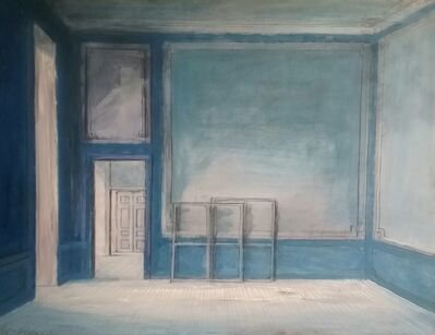 Pierre Bergian, 'Enfilade (Blue interior)', 2017