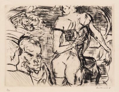 Max Beckmann, 'Bordell in Gent (Brothel in Ghent) (H. 85)', 1915