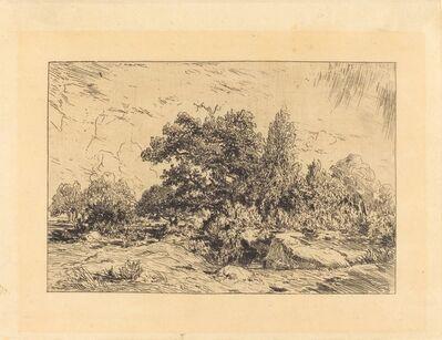 Théodore Rousseau, 'Vue du Plateau de Bellecroix', 1848-1849