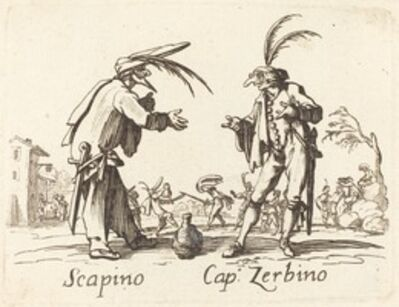 after Jacques Callot, 'Scapino and Cap. Zerbino'