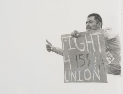 Andrea Bowers, 'Fight 4 $15 & a Union (Fight for $15 protest, Dec. 2013)', 2016