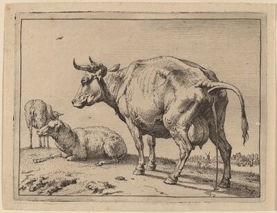 Paulus Potter, 'Pissing Cow', 1650