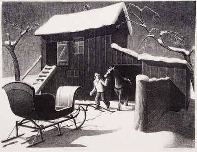 Grant Wood, 'December Afternoon', 1940