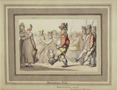 Thomas Rowlandson, 'Recruiting Party'