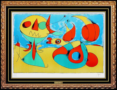 Joan Miró, 'Joan Miro Color Lithograph Hand Signed & Numbered Abstract Animal Art Authentic', Mid-20th Century