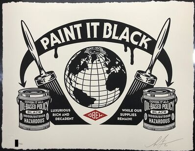 Shepard Fairey, 'Paint It Black Obey Giant Letterpress Print', 2020