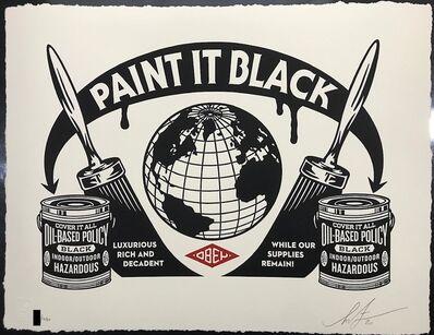 Shepard Fairey, 'Paint It Black Obey Giant Letterpress Print', 2020