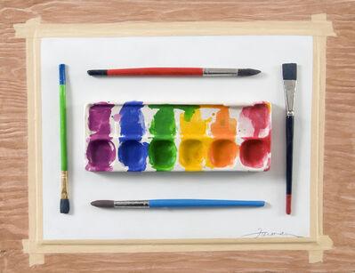 David Furman, 'Watercolor Plaxe Setting'