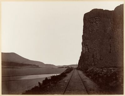 Carleton E. Watkins, 'Cape Horn near Celilo', 1867