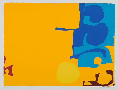 Patrick Heron, 'Blues Dovetailed in Yellow', 1970