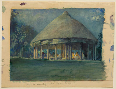 John La Farge, 'Hut in Moonlight, Iva, Savaii, Oct., 1890', 1890