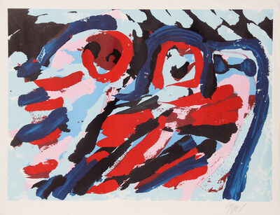 Karel Appel, 'Untitled - Three Smiling Faces', ca. 1980