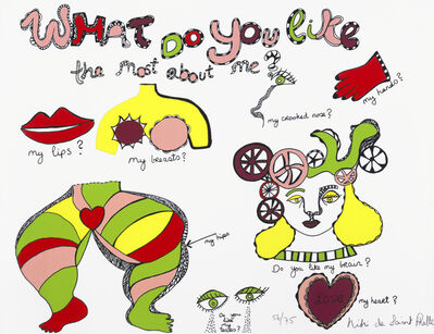 Niki de Saint Phalle, 'What do you like the most about me?', 1970