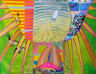 Madeline Bohrer, 'Sun Bathing in The Backyard', 2020