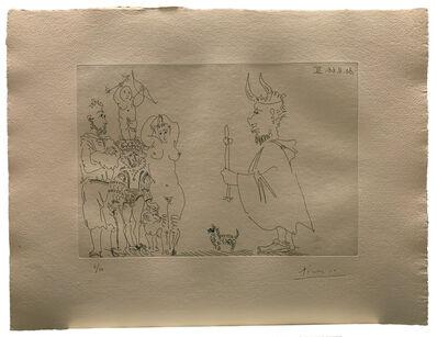 Pablo Picasso, ' Le Cocu devant un groupe avec le Séducteur et l'Amour', 1966
