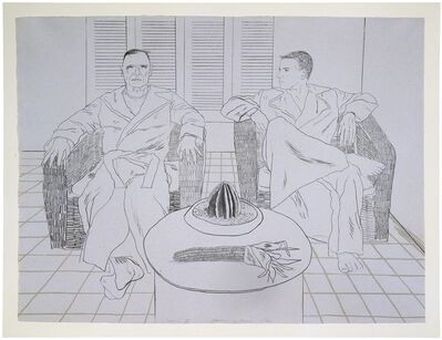 David Hockney, 'Christopher Isherwood and Don Bachardy', 1976