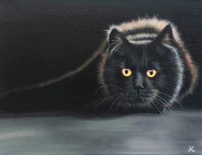 Kalipeinture, 'Chat noir', 2019