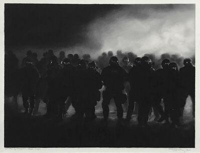 Robert Longo, 'STUDY OF FERGUSON RIOT COPS', 2015