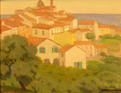 Earl Henry Brewster, 'Vietri - Town with Trees in Front and Water in Back'