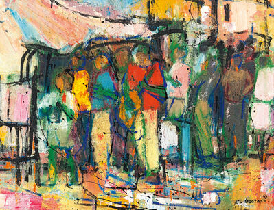 Ephraim Ngatane, 'Row of Figures'
