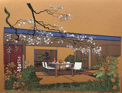 Carlos Diniz, 'Monarch Bay Homes, Outdoor Dining Room (Ladd and Kelsey, Architects) (orange)', 1961